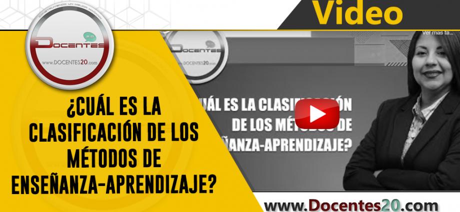 CLASIFICACIÓN DE LOS MÉTODOS DE ENSEÑANZA-APRENDIZAJE